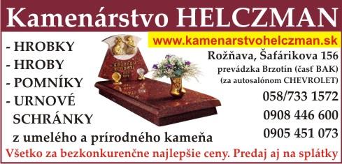 Kamenárstvo Helczman