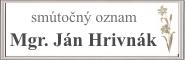 Mgr. Ján Hrivnák