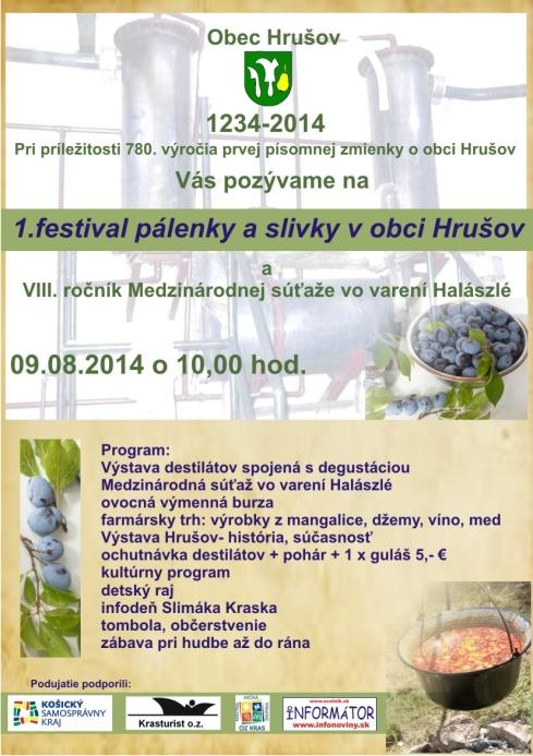 1. festival pálenky a slivky v obci Hrušov