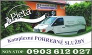 Komplexné pohrebné služby PIETA Rožňava